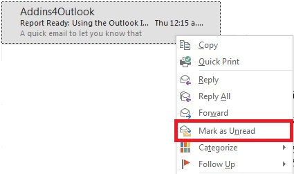 mark email as unread